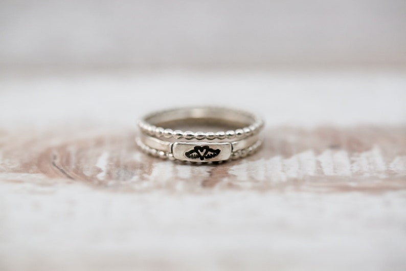 3mm-sterling silver-memorial ring-rememberance ring-miscarriage ring-personalized ring
