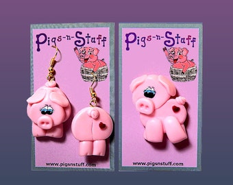 Pig Pin Set Earrings