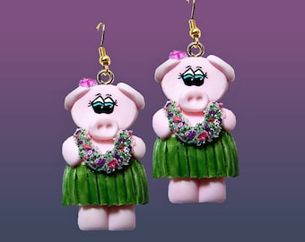 Hula Pig Earrings