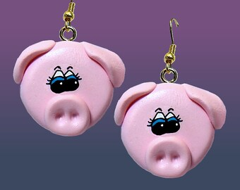 Pig Face Earrings