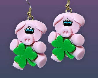 Lucky Pig Earrings