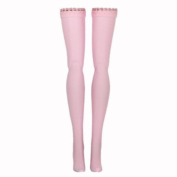 JEAN SHORTS WITH ATTACHED PINK Stockings  for Barbie doll