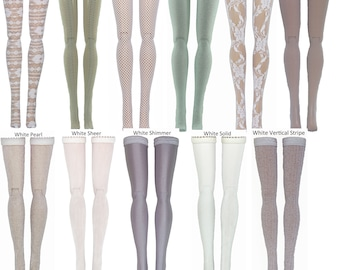 White Doll Stockings to fit Blythe - Chubby Blythe - Middie Blythe - Azone Pure Neemo - doll clothes - doll accessories