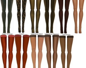 Brown Doll Stockings to fit Blythe - Chubby Blythe - Middie Blythe - Azone Pure Neemo - doll clothes - doll accessories