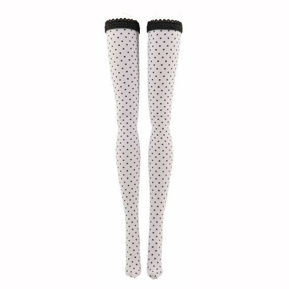 Skipper Francie Made to Move Polka Dot Doll Stockings for Barbie Curvy Silkstone Tall Petite