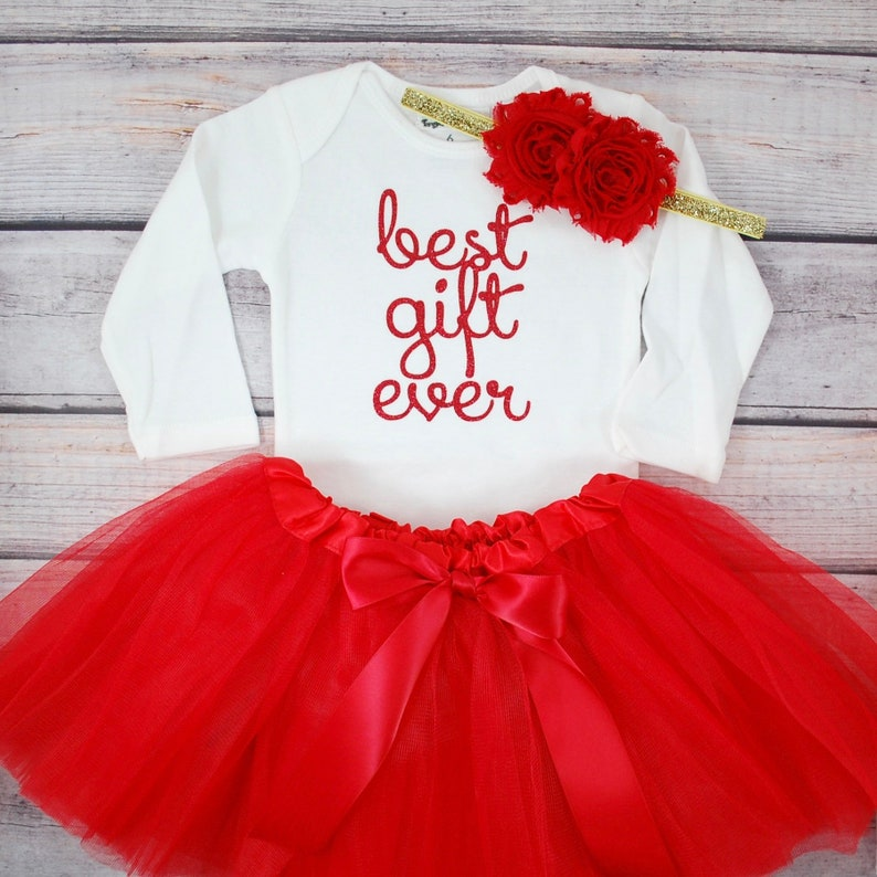 c12ffe034552 Best Gift Ever Baby Girl Christmas outfit First Christmas | Etsy