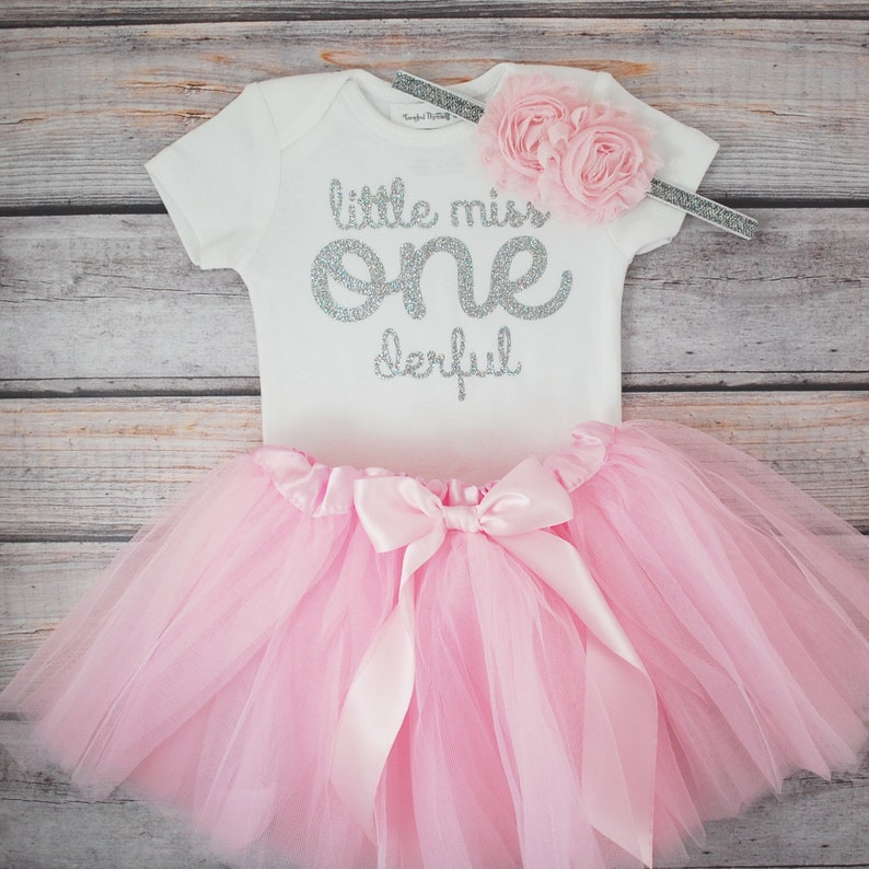072f8ecc8 Little Miss Onederful First birthday outfit girl pink and