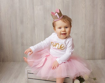 Miss One-derful First birthday outfit girl pink and gold birthday outfit 1st birthday girl outfit Baby girl first birthday outfit Onederful