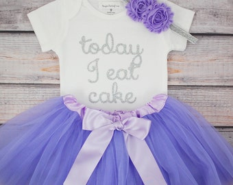 Today I Eat Cake, First birthday outfit, Girls First Birthday