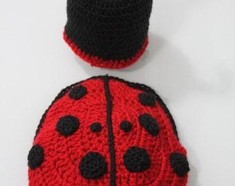 Ladybug Crochet Hat and Cape