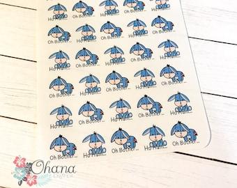 Eeyore Inspired Quote Planner Stickers | Any Planner | Cute | EC | Erin Condren | Kikki | Decorative | Sad | Depressed | Disney Inspired |