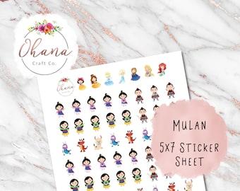 Mulan Planner Stickers ~ Magically Inspired | Life Planner | EC | Erin Condren | Happy | Disc | Ring | Pocket | Personal | Hobo | Journal |