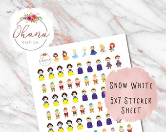 Snow White Planner Stickers ~ Magically Inspired | Life Planner | EC | Erin Condren | Happy | Disc | Ring | Pocket | Personal | Journal |