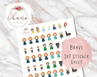 Brave Planner Stickers ~ Magically Inspired  | Life Planner | EC | Erin Condren | Limelife | Inkwell | Happy | Hobo | Pocket | Movie