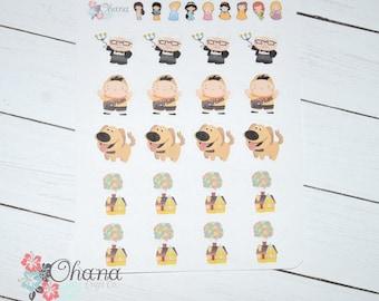 Up Planner Stickers ~ Disney Inspired | Life Planner | EC | Erin Condren | Limelife | Inkwell | Plum | Kikki | Decorative | Character |