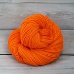 Supernova - Hand Dyed Superwash Merino Wool Worsted Aran Yarn - Colorway: Safety Orange