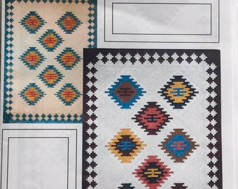 """EL RANCHO quilt pattern by J Michelle Watts - southwestern quilt 66""""x93"""" - native american quilt - easy beginner-suitable applique pattern"""