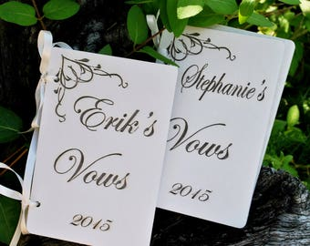 Vow Book, Set of Vow Books, Custom Vow Books, Wedding Vows Booklet, Vow Renewal, Set of 2 Books, Customized Vow Books, Vows Book