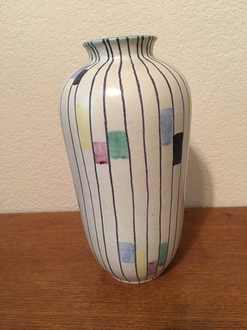 West German Mid Century Vase By Ruscha Keramik Decor Roma Circa 1956