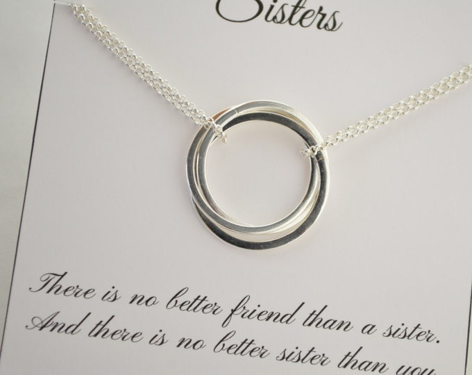 3 Sister Jewelry, Sisters Gift with Card, 3 Best friend Necklace for Gift, Sister Jewelry, Jewelry Gift, Graduation Gift, Sister n\Necklace