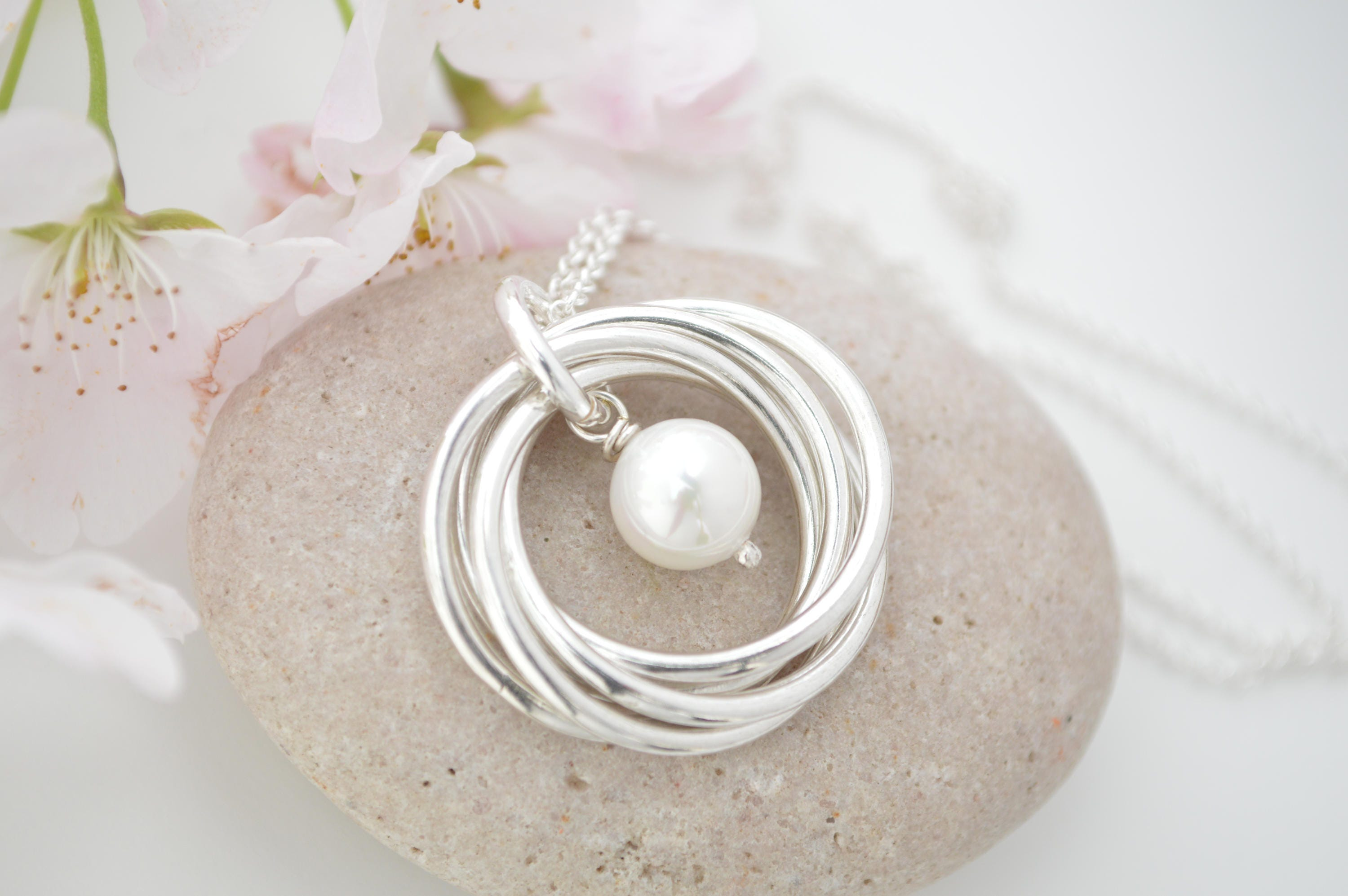 60th Birthday Gift For Mom And Aunt Necklace 6th Anniversary Her June Birthstone Pearl Jewelry 50th Women