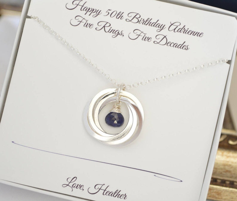 50th Birthday Gift For Wife Sapphire Necklace September