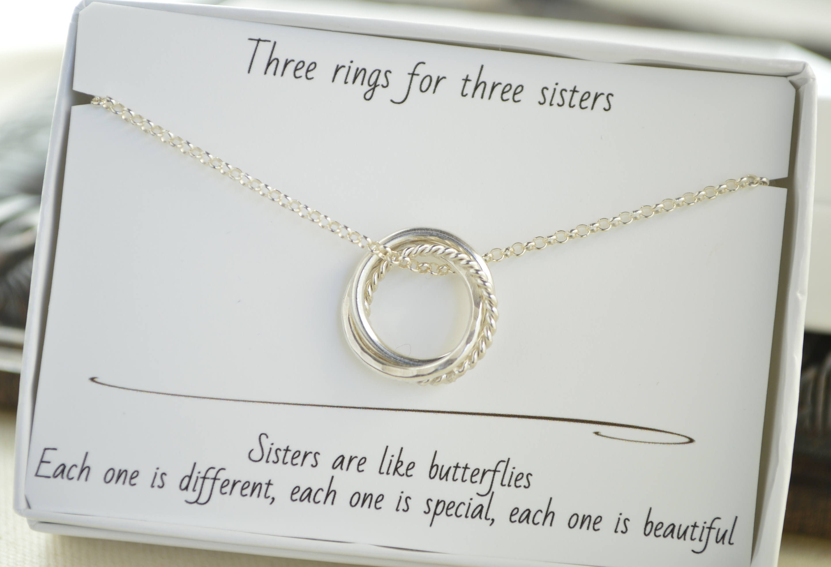 30th Birthday Gift For Daughter 3 Rings Necklace 3 Best Friends Gif 3rd