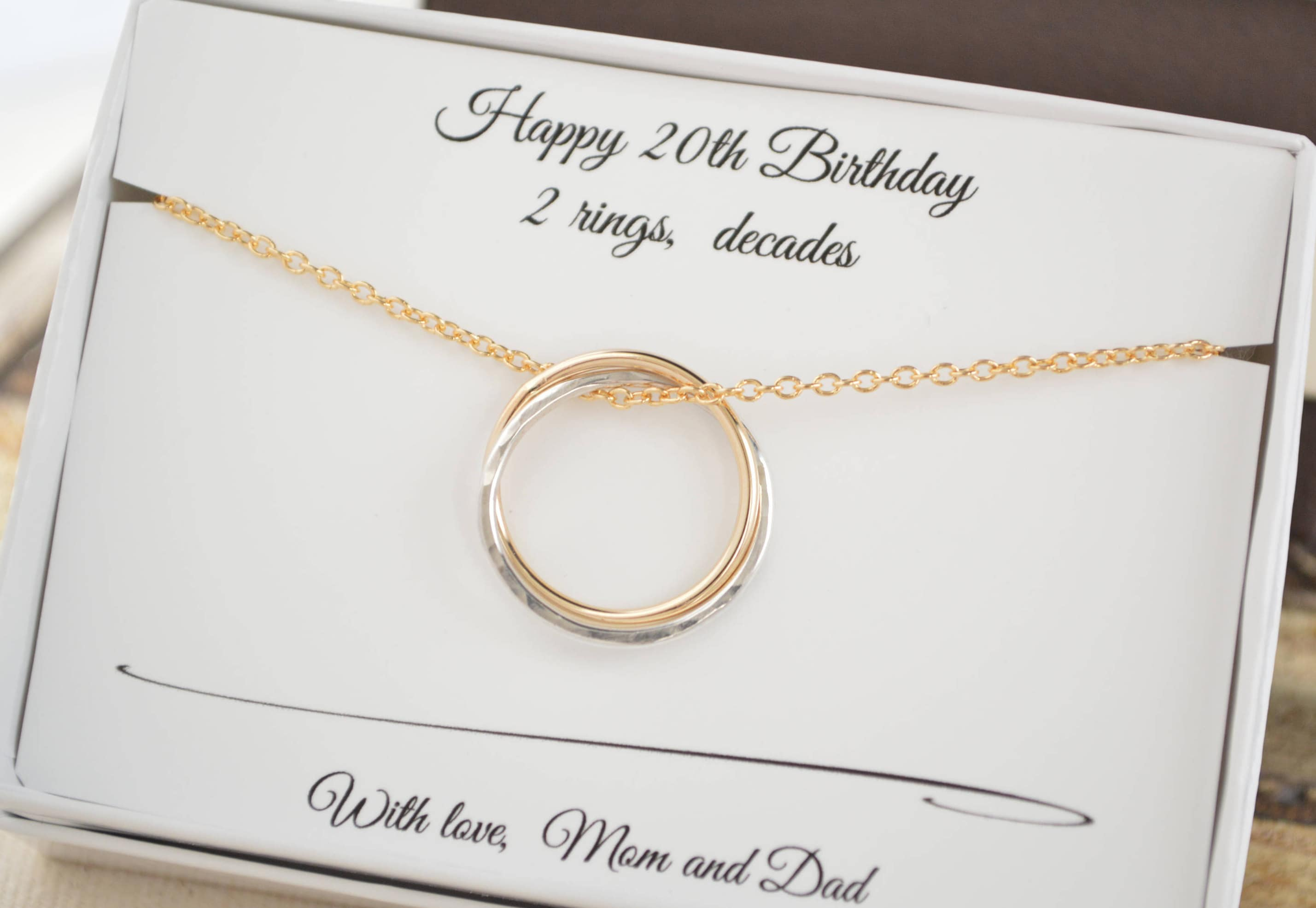 20th Birthday Gift For Her 2nd Anniversary Gift For Women Circle