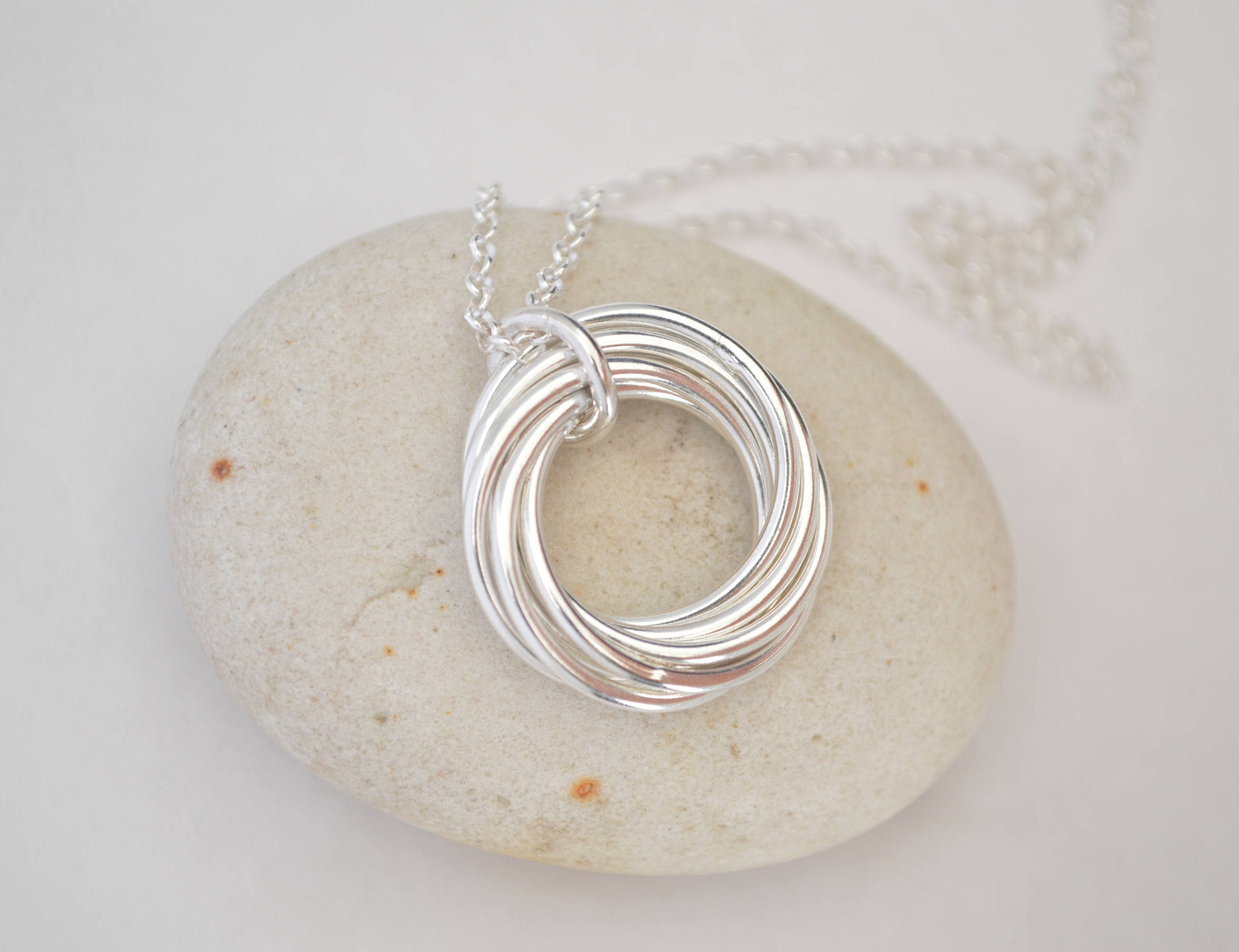 90th Birthday Gift For Mother And Grandmother Necklace Nana 9 Rings 9th Anniversary Gifts Mom
