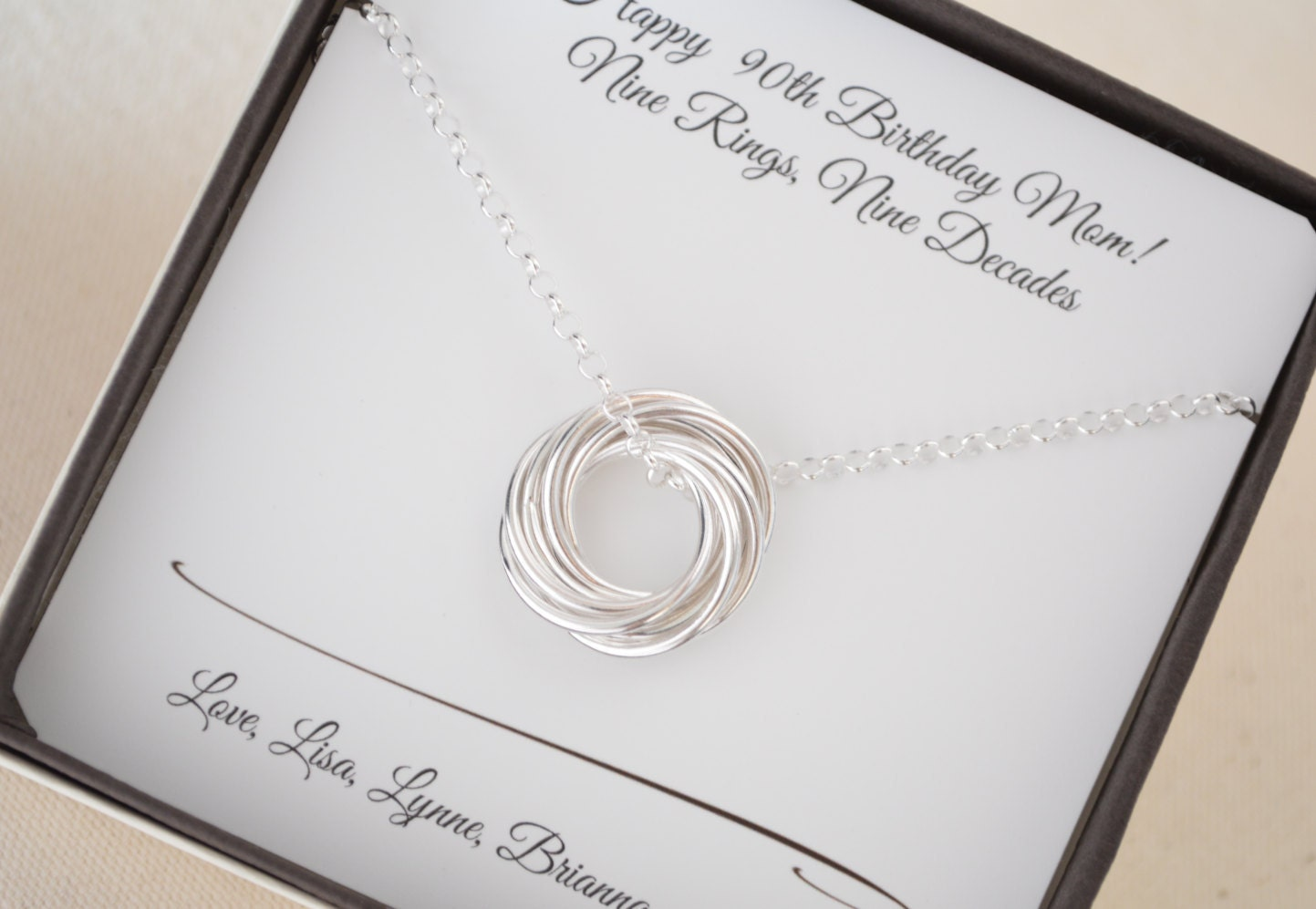 90th Birthday Gift For Mom Mother And Grandmother Necklace
