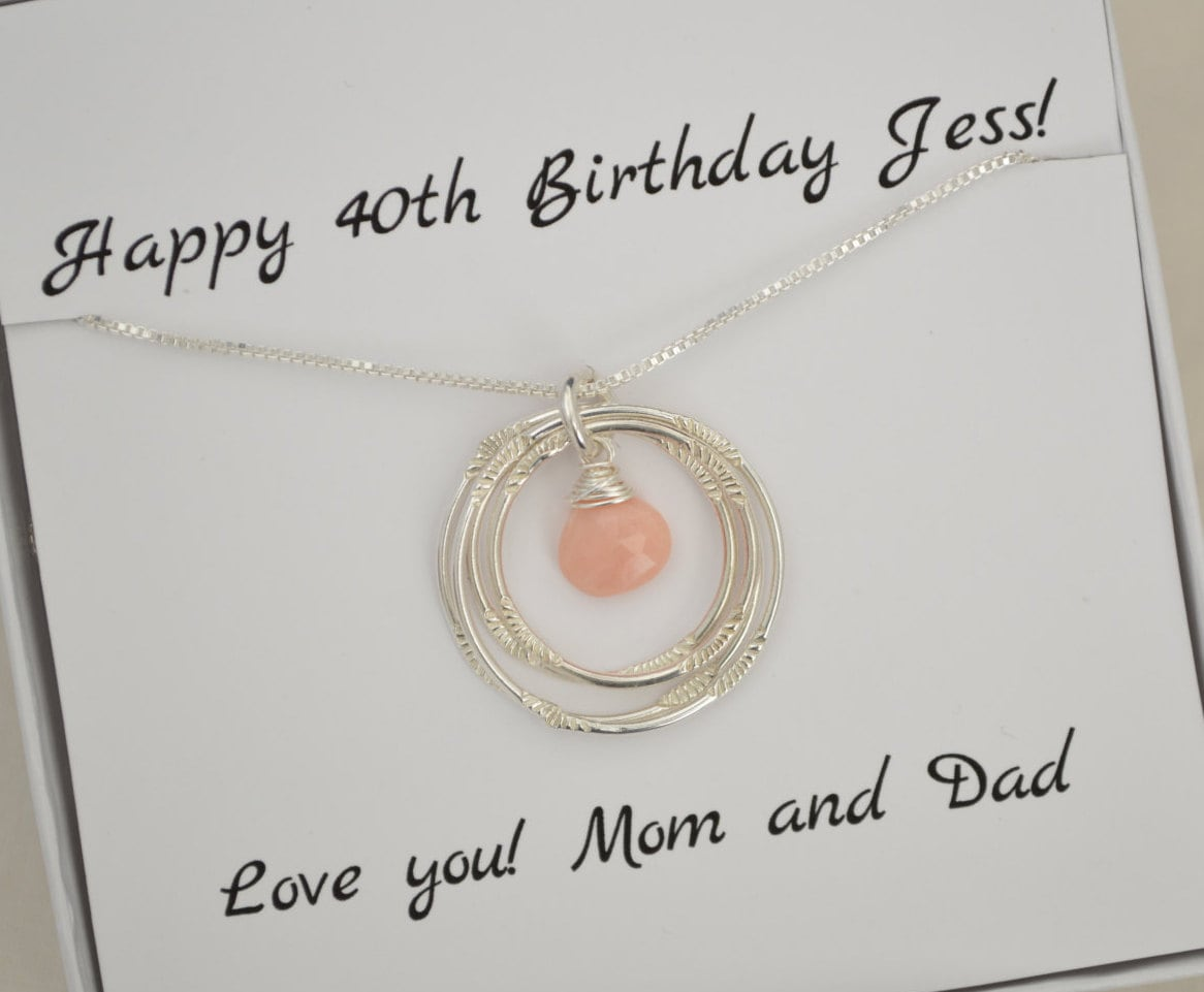 40th Birthday Gift Opal Necklace Mom Birthstone Gallery Photo