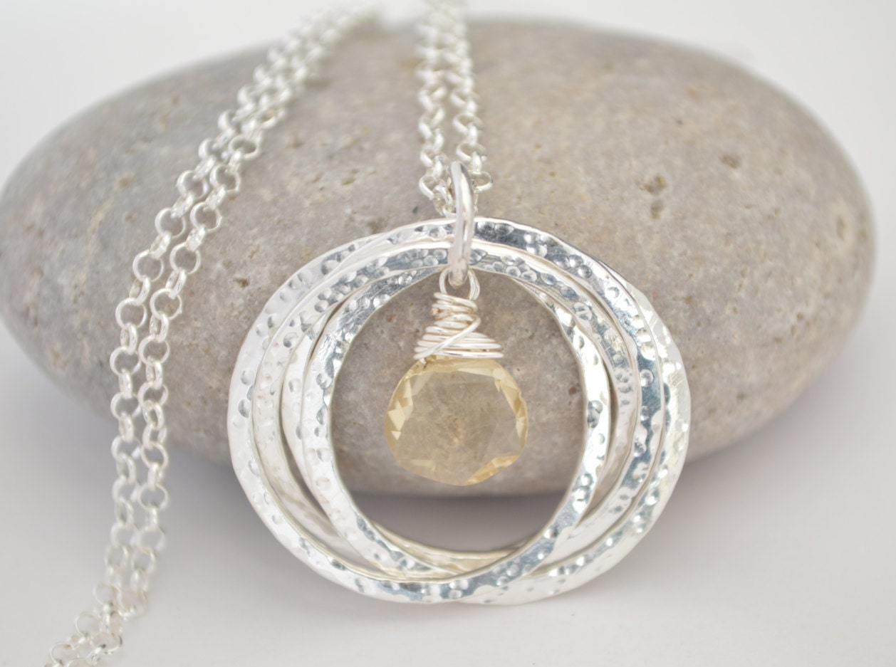40th Wedding Anniversary Gifts For Friends: Citrine Necklace, 40th Birthday Gift For Women, 4th