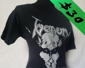 Venom ladies scoop boat neck heavy metal black metal band shirt tunic available in many sizes