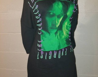 EXORCIST ladies boatneck horror movie shirt available in M L XL 2X and 3X