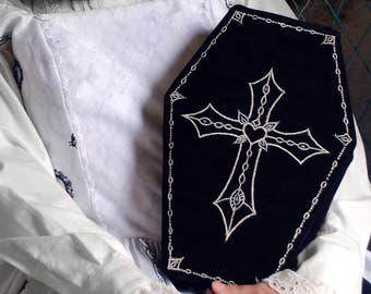 Graverobber Coffin Purses for Gothic and Lolita with Adjustable Straps