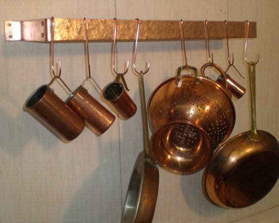 """Set of 6 Handcrafted Solid Copper /""""S/"""" Pot Hooks FREE SHIPPING to any US Zip code"""