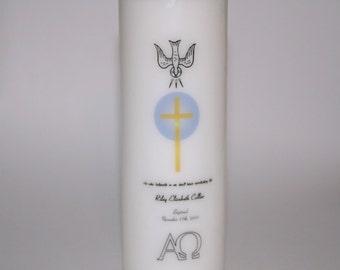 Personalized Baptismal Candle, Christening Candle,  Baptism Candles