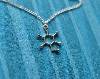 Biolojewelry - Glucose Molecule Necklace