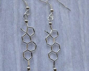 Biolojewelry - Estrogen Molecule Earrings