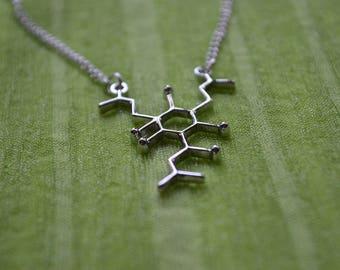Biolojewelry -Humulone Beer Hops Molecule Necklacklace