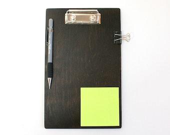 Dark Brown Wooden Clipboard / 8.5x11 inch Clipboard / A5 Clipboard / A4 Clipboard / Courier Gift / Plywood Clipboard /Personalization Option