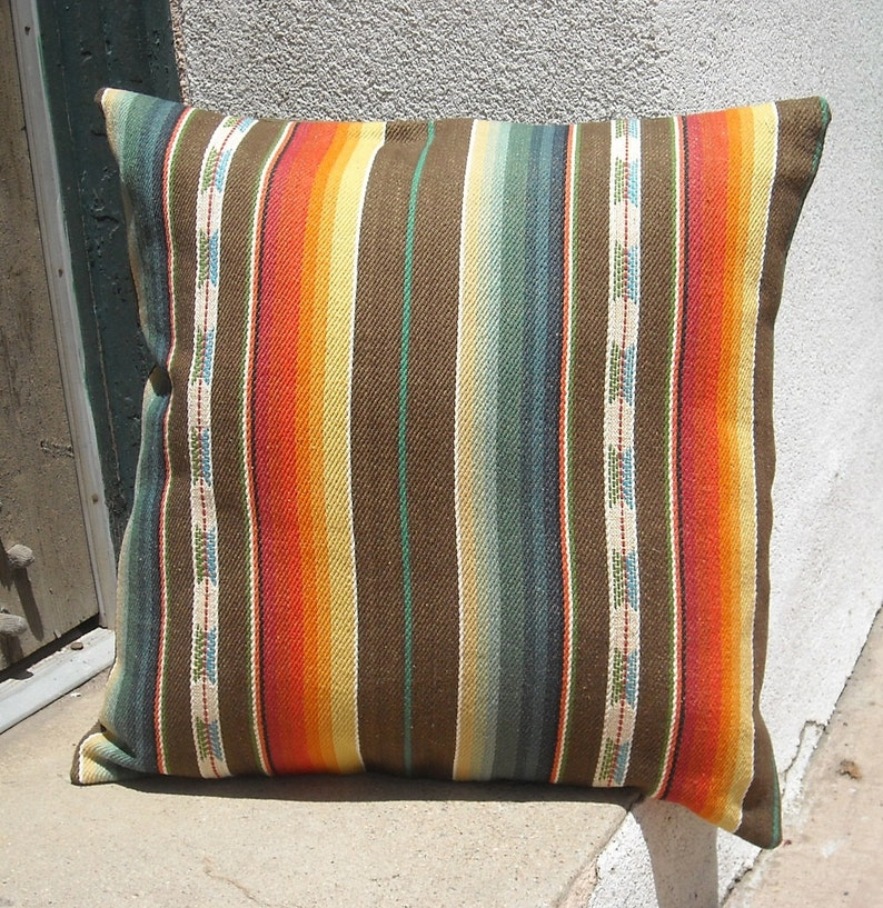 Southwestern Pillow Cover 16 x 16 to 24 x 24 custom sizes image 0