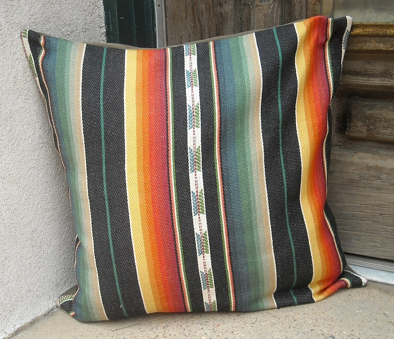 Southwestern Pillow Cover. 16 x 16 to 24 x 24. soft woven image 0