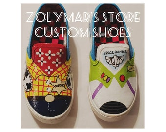 sneakers for cheap e7c31 08de5 Toddler Toy Story inspired sneakers