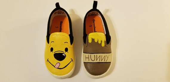 3c783f8a8c6a Winnie the Pooh inspired baby shoes