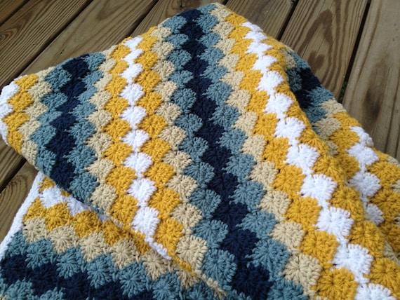 Blue Yellow Cream Throw/Blanket Harlequin Pattern | Etsy