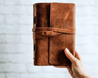 Personalized Leather Journal Notebook Personalized Journal Personalized sketchbook