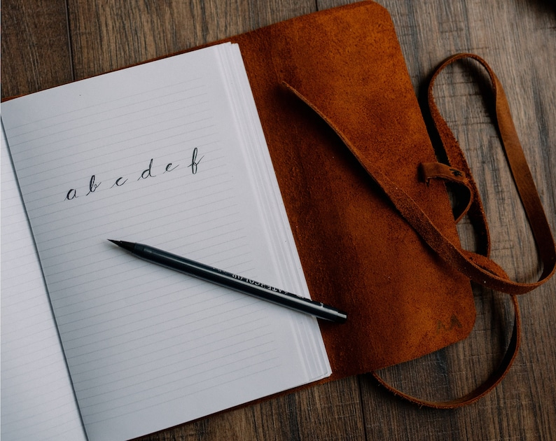 Monogram Sketchbook Lined Journal for Men Large Leather Journal Leather Journal Personalized Writing Journal Handbound Journal