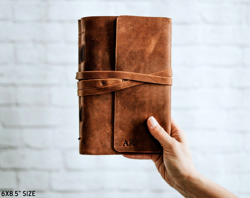 Personalised Journal Diary Personalized Leather Journal Lined image 0