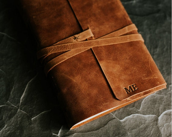 Leather Journal from Forest Nine on Etsy